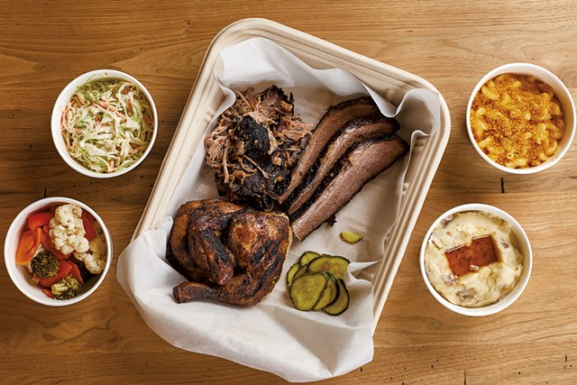 Bluebird Barbecue platter for two - COURTESY OF JESSICA SIPE