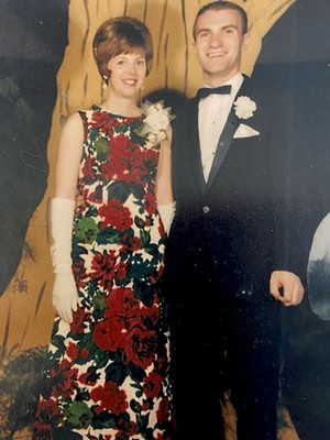 Carole and Tom at his junior prom at Saint Michael's College - COURTESY