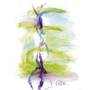 Seeking Balance painting - COURTESY OF ST. CLAIR SCENTS