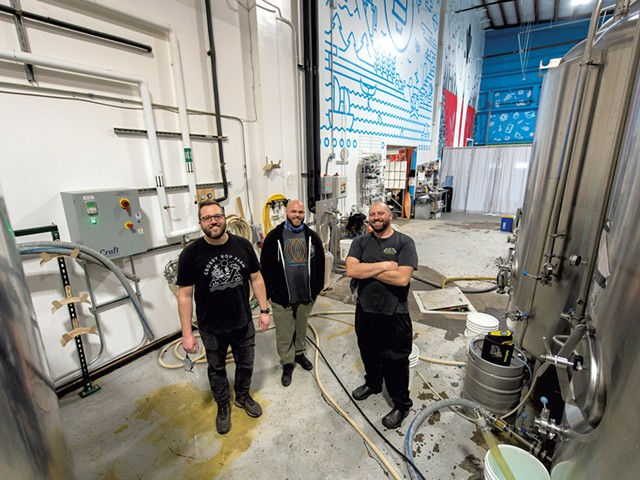 From left: Joe Lemnah, Matt Spaulding and Josh Lemieux - DARIA BISHOP