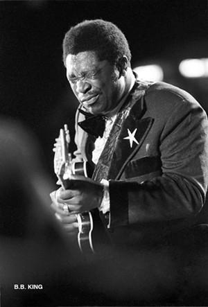 B.B. King, June 17, 1973, at Tampa Stadium - COURTESY OF RICK NORCROSS