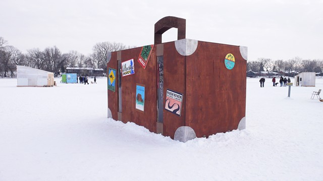 """Suitcase Art Shanty"" from Art Shanty Projects - COURTESY OF MIKE HAEG"