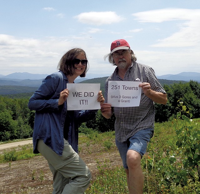 Eve Ermer and Scott Russell at Lewis Pond Overlook - COURTESY OF EVE ERMER AND SCOTT RUSSELL