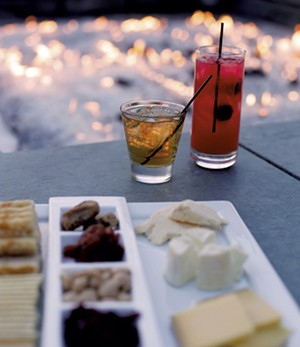 Drinks and snacks by the Falcon Bar firepit - FILE: SARAH PRIESTAP