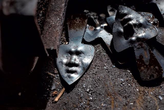 Works in progress at Harlan Mack's blacksmith shop - GLENN RUSSELL