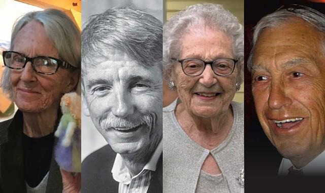 L to r.: Tennant Glenn Davitian, Ed Hanley, Angie Routly, Dr. Frank Fiermonte - COURTESY