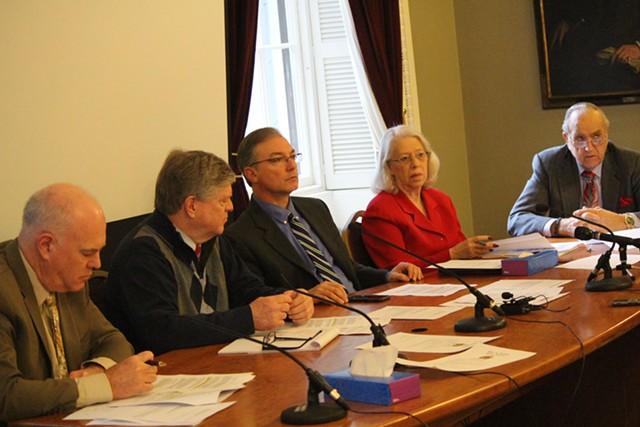 Senate Rules Committee members Joe Benning, John Campbell, Phil Baruth, Peg Flory and Dick Mazza - PAUL HEINTZ