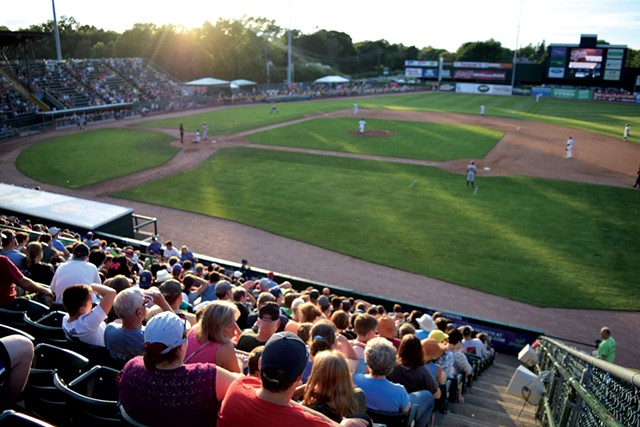 Fans taking in a game at Centennial Field - COURTESY OF VERMONT LAKE MONSTERS