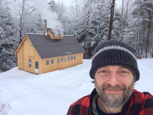 Cory Krieg and his Bethel sugar house - COURTESY OF CORY KRIEG