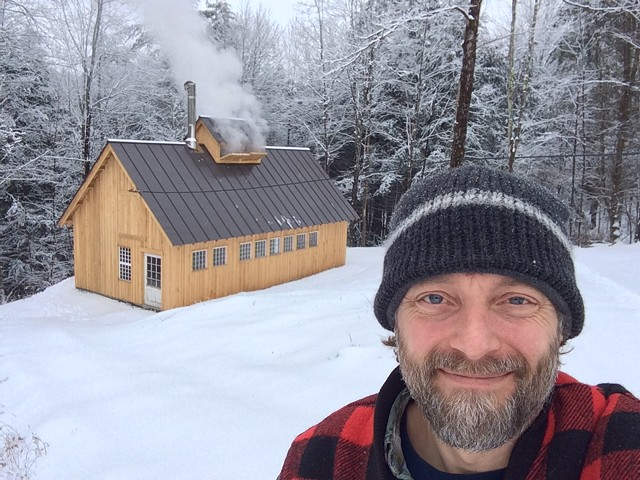 Cory Krieg and his Bethel sugar house - COURTESY OF CORY KRIEG