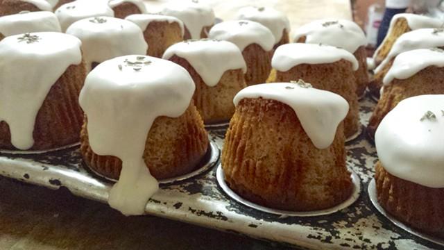 Lemon-lavender teacakes at Barrio Bakery - MELISSA HASKIN