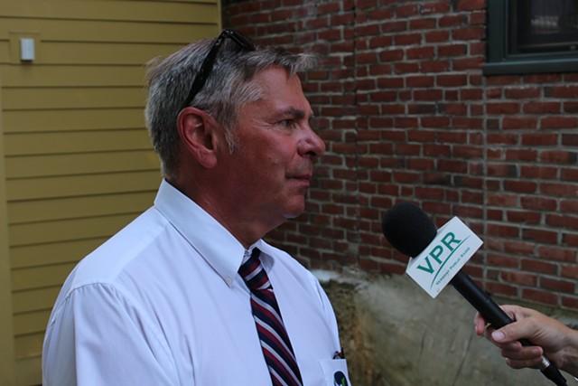 Floyd Nease last August at House Speaker Shap Smith's gubernatorial campaign kickoff in Morrisville - PAUL HEINTZ