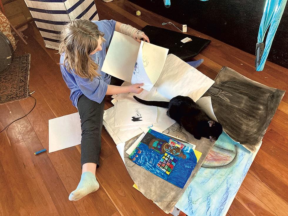 Destiny, 10, with Elmers the cat - CHELSEA EDGAR