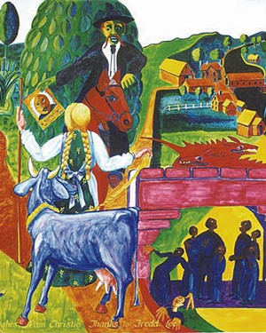 Section of the mural at Vermont Law School - COURTESY OF SAM KERSON