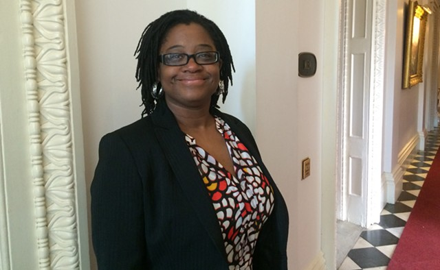 Rep. Ruqaiyah Morris (D-Bennington) presented the House bill - NANCY REMSEN