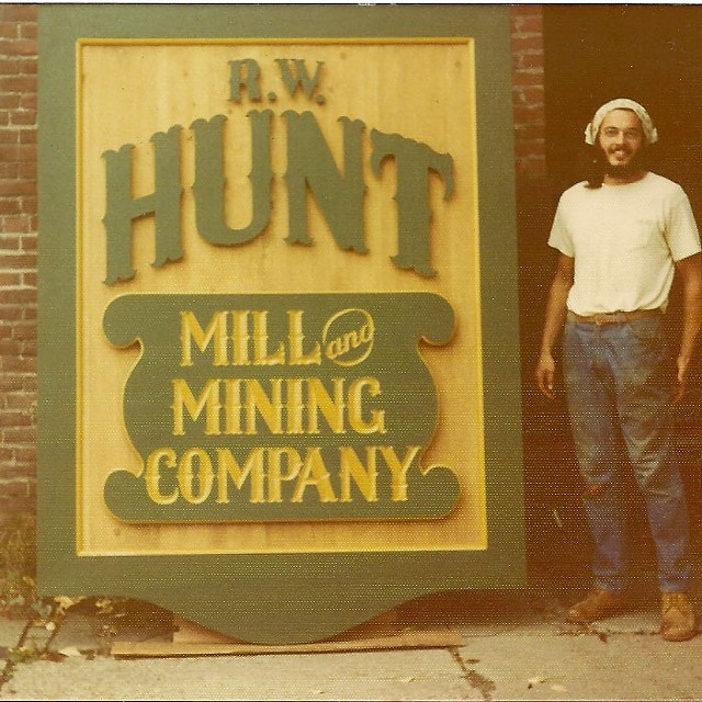 Original Hunt Mill and Mining Company sign painted by John Floyd of Design Sign - COURTESY OF DESIGN SIGN