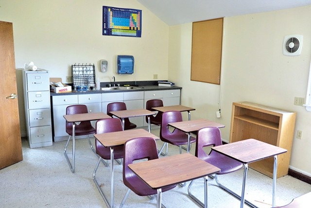 A classroom at the former King George School - COURTESY OF CENTURY 21 FARM & FOREST