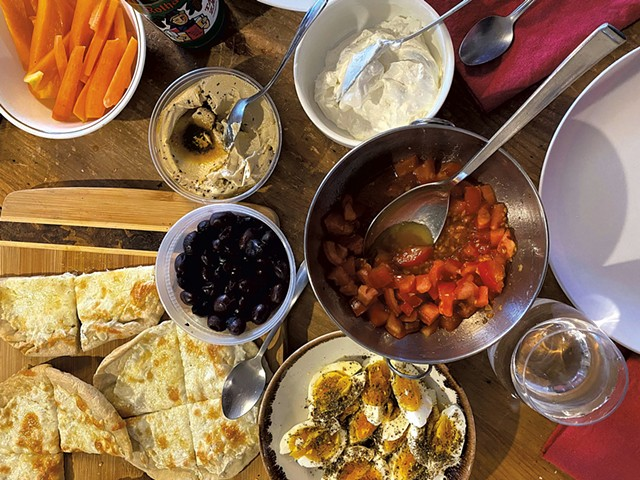 Turkish breakfast for dinner - COURTESY CARA CHIGAZOLA TOBIN
