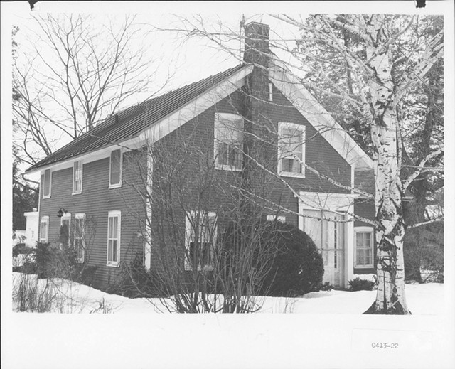 The historic farmhouse - COURTESY OF VERMONT DIVISION FOR HISTORIC PRESERVATION