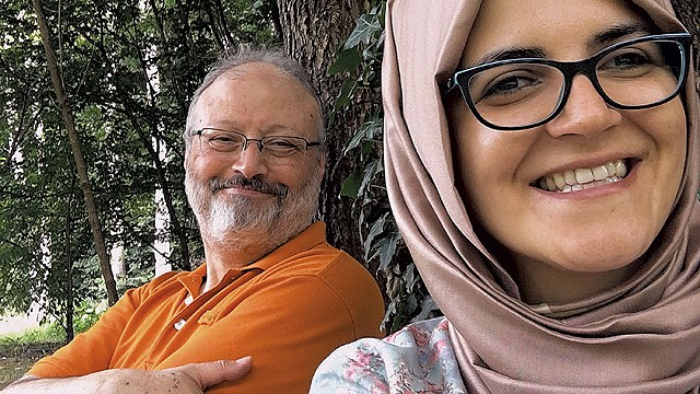 FALL FROM GRACE Fogel's documentary explores how Khashoggi (shown with Cengiz) went from being a Saudi insider to an alleged assassination victim. - COURTESY OF BRIARCLIFF ENTERTAINMENT