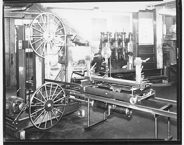 The school's machine shop, circa 1951 - COURTESY OF UNIVERSITY OF VERMONT SPECIAL COLLECTIONS