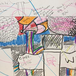 Mural concept sketch by Sage Tucker-Ketcham - SADIE WILLIAMS