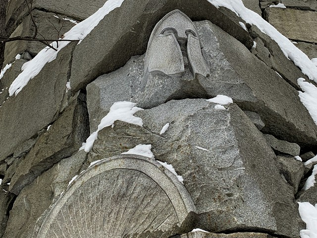 Carvings along the Grand Lookout path at Millstone Trails - MELISSA PASANEN