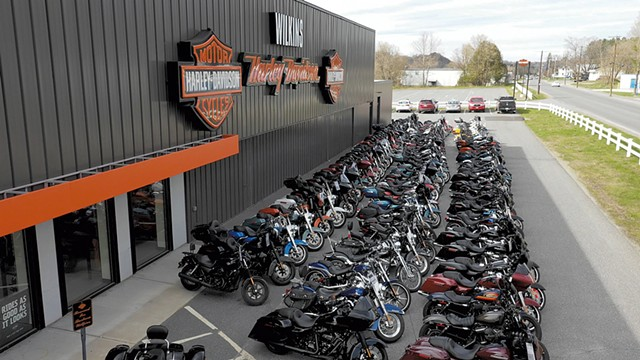 Bikes outside Wilkins Harley-Davidson - COURTESY OF WILKINS HARLEY-DAVIDSON