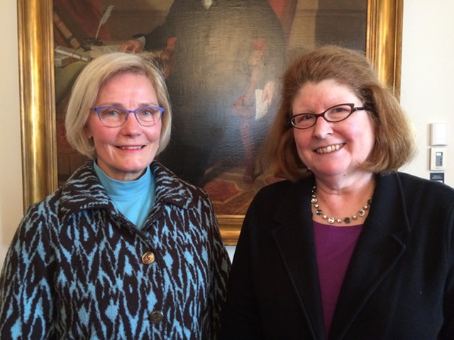 Helen Riehle (left) will replace Sen. Diane Snelling (right), who was appointed Tuesday as chair of the state Natural Resources Board. - NANCY REMSEN