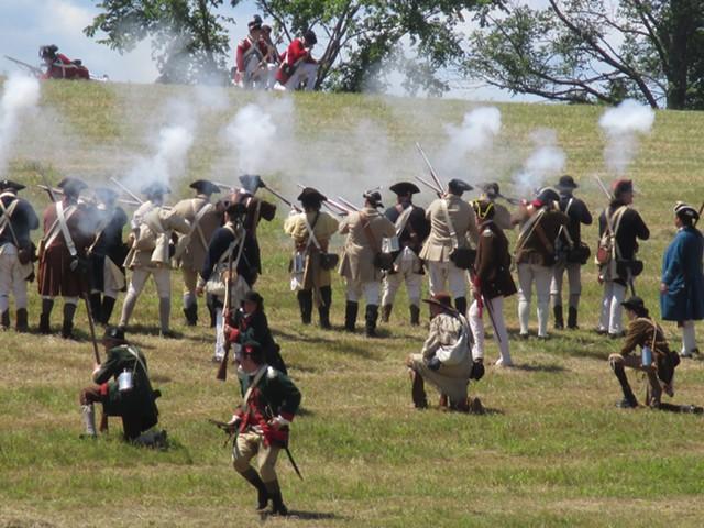A Battle of Hubbardton reenactment - COURTESY OF HUBBARDTON BATTLEFIELD STATE HISTORIC SITE ©️ SEVEN DAYS