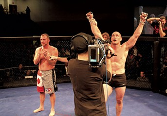 Tom Murphy competing in a mixed martial arts bout in Canada - COURTESY OF TOM MURPHY