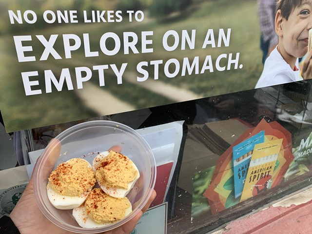 Deviled eggs from the Citgo in South Barre - MELISSA PASANEN ©️ SEVEN DAYS