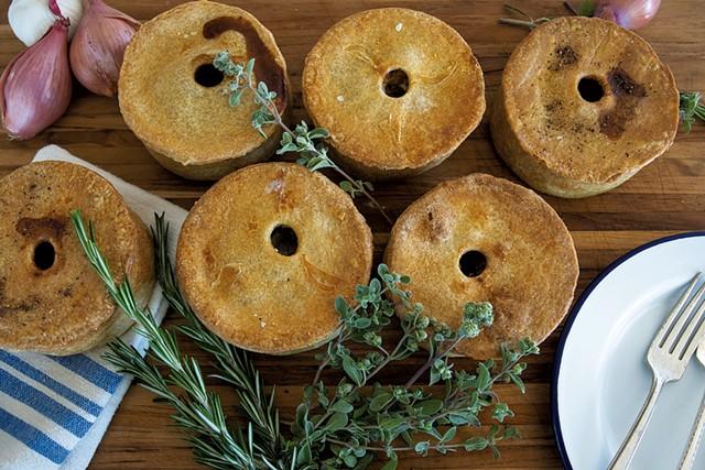Savory English pies from Piecemeal Pies - SARAH PEET