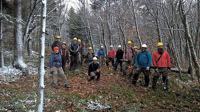 The group's volunteers doing trail work - COURTESY OF ANGUS MCCUSKER