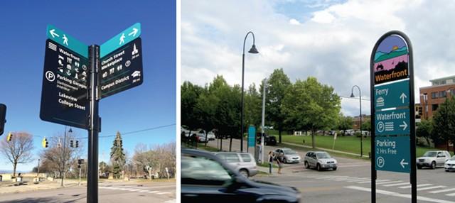Burlington wayfinding signs - COURTESY OF SEABA