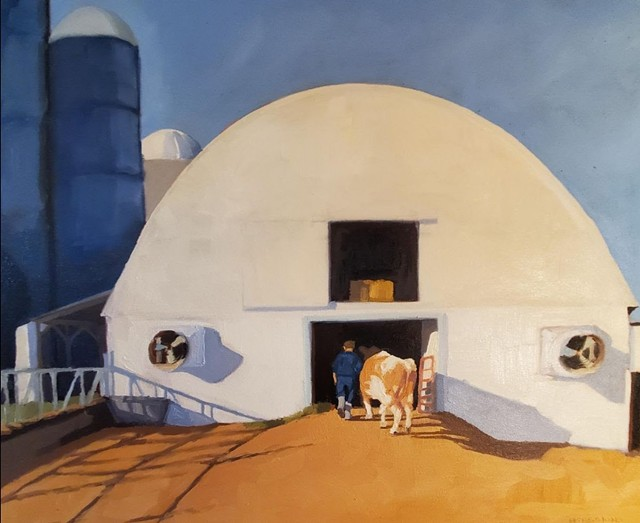"""""""Milking Time at Mose Farm"""" by Hannah Sessions - COURTESY OF NORTHERN DAUGHTERS"""