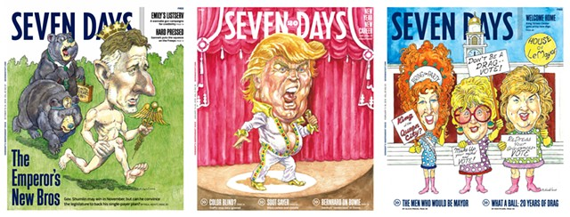 Covers illustrated by Marc Nadel - MARC NADEL AND SEVEN DAYS