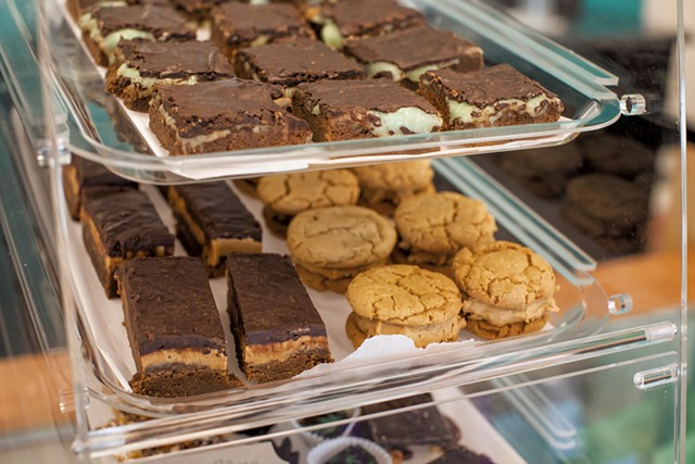 Infused mint chocolate brownies, peanut butter brownies and peanut butter sandwich cookies - LUKE AWTRY