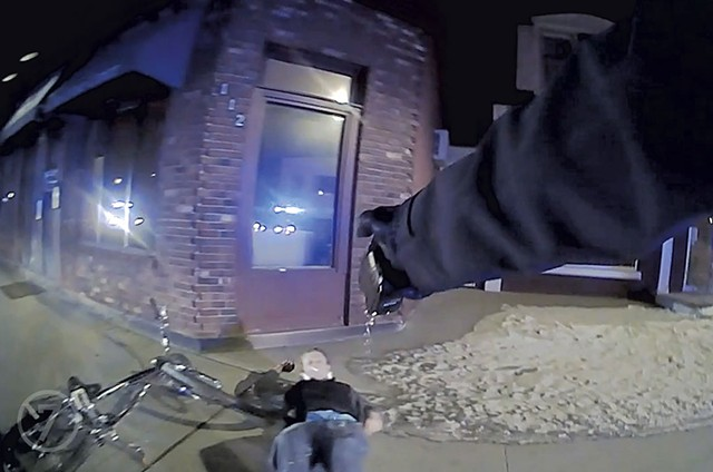 Mark Schwartz using his Taser during the incident that led to his arrest - BODY CAM FOOTAGE