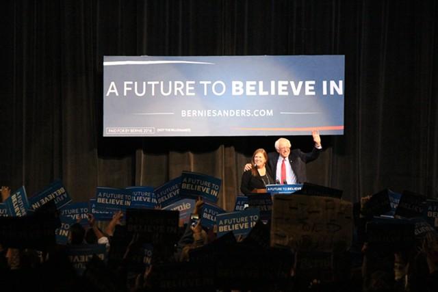 Sen. Bernie Sanders in Nevada in February - FILE: PAUL HEINTZ