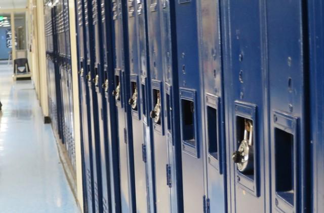A Burlington High School hallway - FILE: MATTHEW THORSEN ©️ SEVEN DAYS