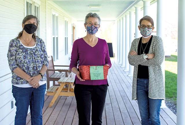 From left: Karen Tuininga, Linda Hamilton and Margaret Woodruff - LUKE AWTRY