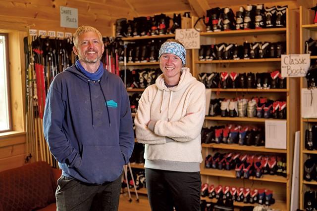 Eli Enman and Molly Peters of Sleepy Hollow Inn, Ski & Bike Center - BEAR CIERI
