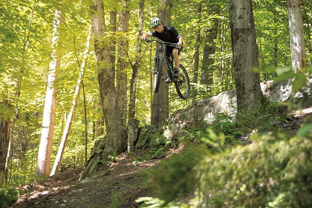 Mountain biking at Cady Hill Forest - COURTESY OF DARREN BENZ