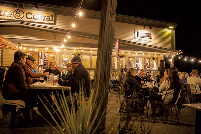 Outdoor dining at Stone Corral - FILE: JAMES BUCK