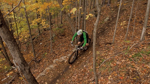 The Fellowship of the Wheel trail in Hinesburg, which would become part of the Velomont Trail network - BERNE BROUDY