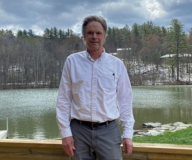 Jack Pickett by the pond at Big Fish - COURTESY OF JACK PICKETT