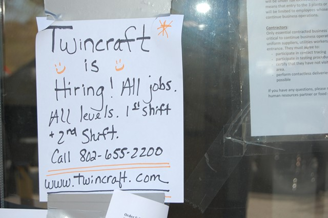 A sign on Koffee Kup's front door in Burlington on Tuesday - MATTHEW ROY ©️ SEVEN DAYS