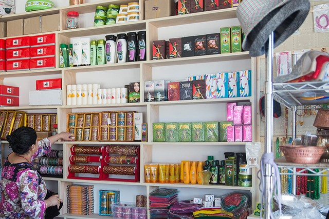 Inside Burlington's Deepa Clothing Store - JAMES BUCK