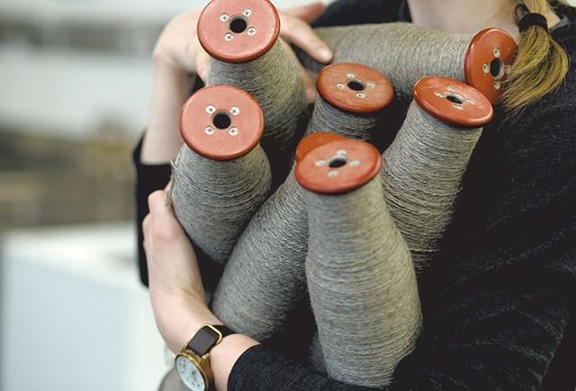Amanda Kievet holding yarn - SARAH PRIESTAP